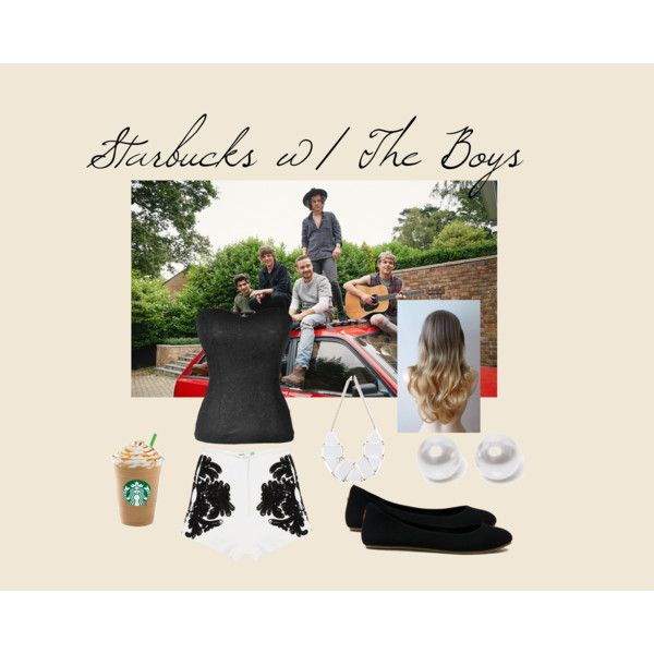Starbucks w/ The Boys by edithtoth on Polyvore featuring Cameo and Nouv-Elle