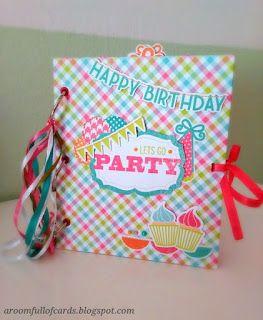 "a room full of cards ""Κάθε τέλειο πάρτυ γενεθλίων χρειάζεται και ένα μικρό λεύκωμα να γεμίσει με όλα τα ωραία που έγιναν!"""
