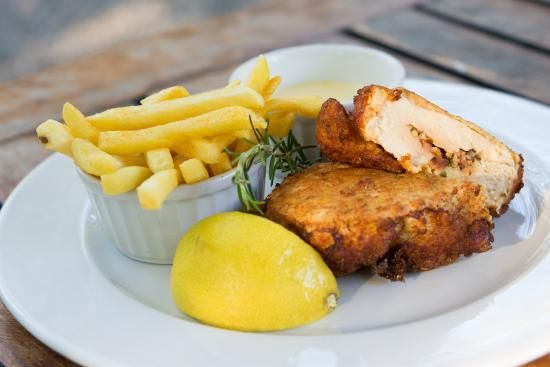 Chicken Kiev with your choice of chips, vegetables or salad. #SefapaneMagic