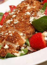 Sugar & Spice by Celeste: Pecan-Crusted Chicken Salad with Strawberries