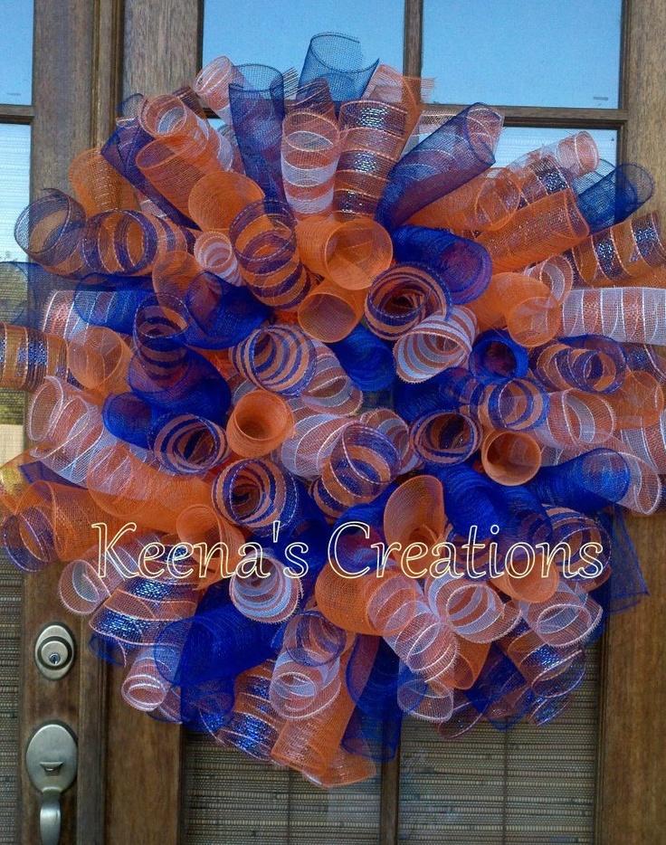 mesh wreaths | ... University Spiral Deco Mesh Wreath, Curly Deco Mesh Wreath War Eagle