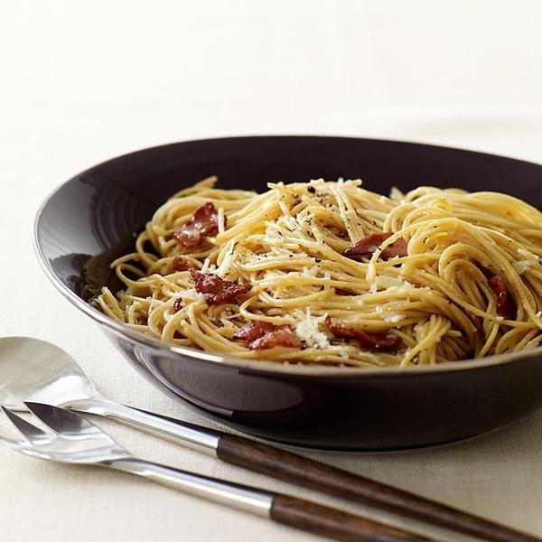 Whole Wheat Spaghetti Carbonara | Recipe | Classic, Bacon and Eggs