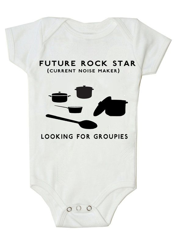 Funny Baby Onesie Funny Bodysuit Future Rock Star on Etsy, $14.99