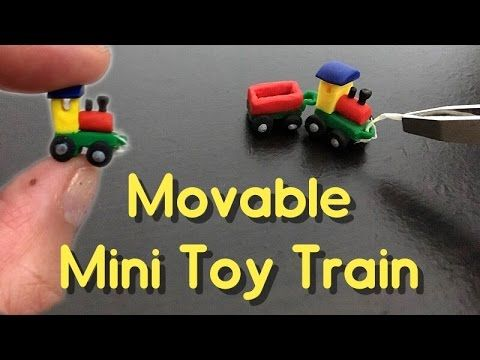 DIY Movable Miniature Toy Train with polymer clay tutorial