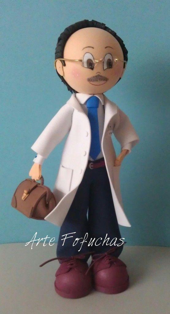 Fofucho doctor con maletin. www.artefofuchas.com