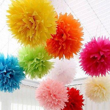Wedding Décor 18 inch(45cm) Paper Pom Tissue Flower - Set of 4 (More Colors) – CAD $ 11.11