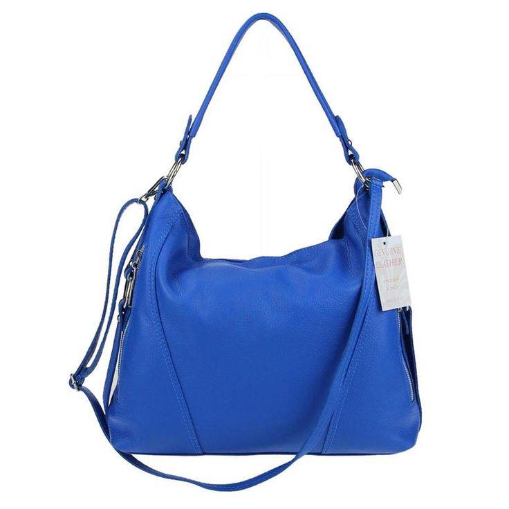 Made in Italy echt Leder Vera Pelle Shopper Henkeltasche Umhängetasche Tasche in vielen Farben