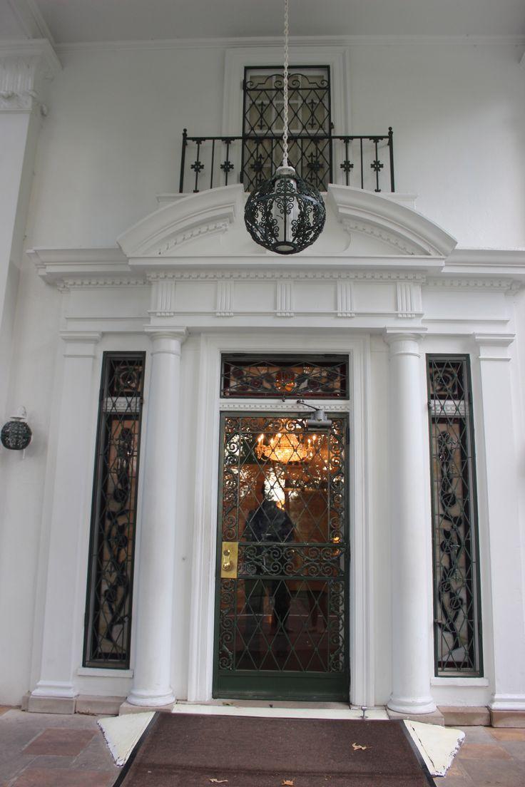 Graceland Mansion - front door