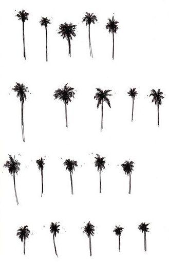 Fashion Illustration | tropicana | palm tree print | black & white sketch by Mia Nolting