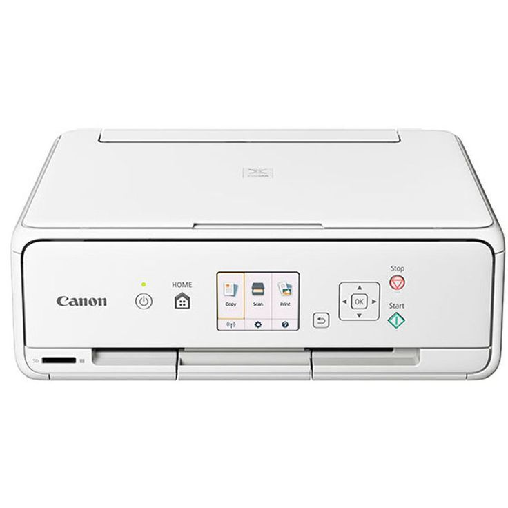 awesome Canon Wi-fi Coloration Picture Printer with Scanner & Copier (White)