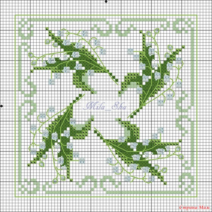 Cross-stitch Biscornu... no color chart available, just use pattern chart as your color guide.. or choose your own colors.. Хочушки со схемами и без: Фото альбомы - Страна Мам