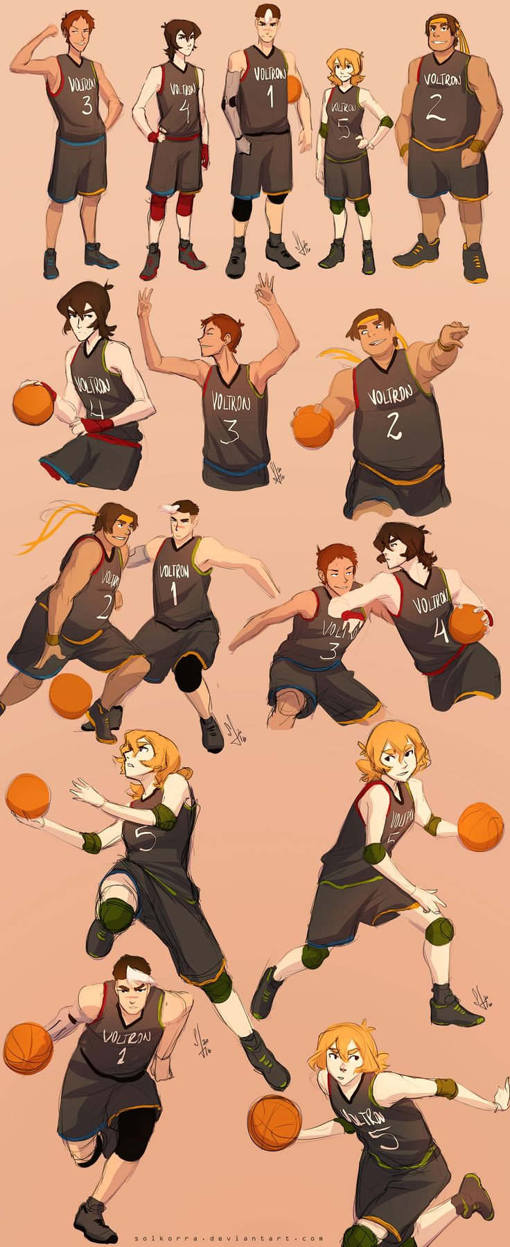 viltron team (Basketball Drawings)