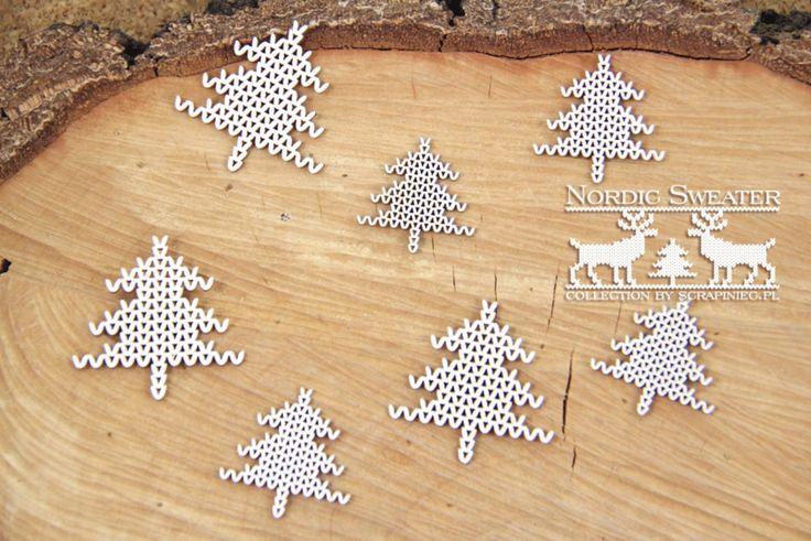 Nordic sweater kerstboompjes