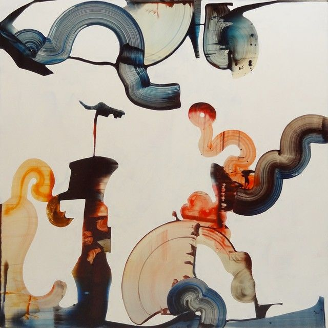 Roi James ~ Abstract Forms 10.02.12, 2012 (oil on panel)