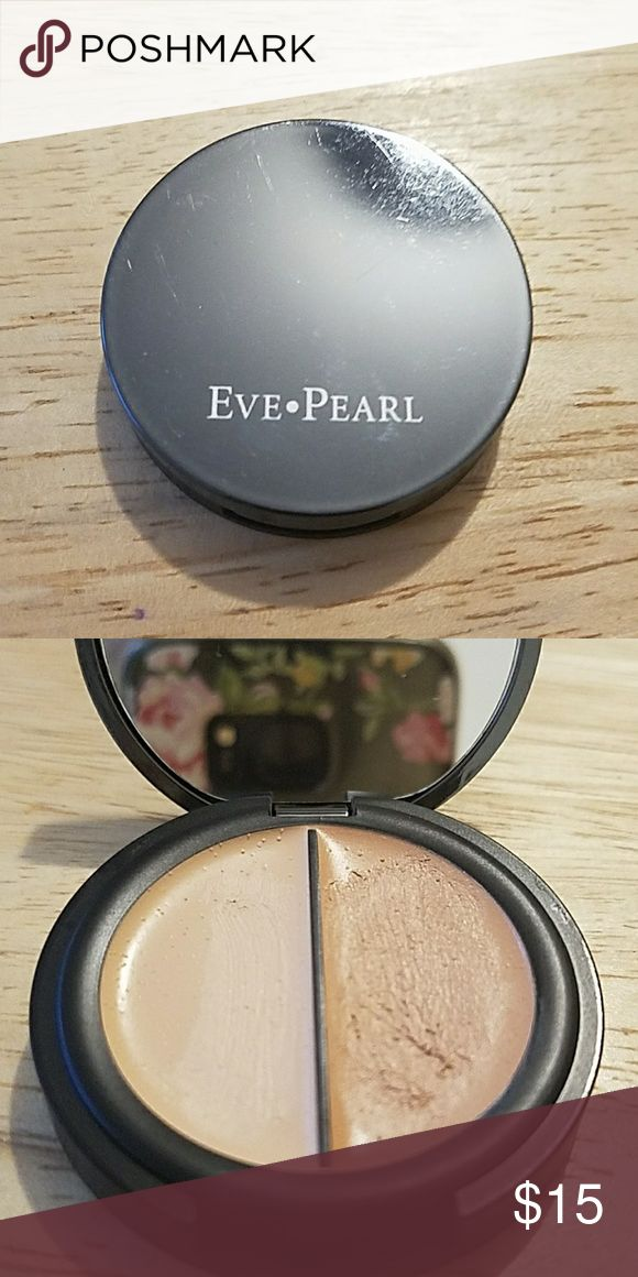 Eve Pearl Dual Salmon Concealer Eve Pearl Dual Salmon Concealer in Fair/Light. Purchased from Eve Pearl website. Used once but color didn't work for me. Really nice for concealing under eye dark circles.  No trades please. Eve Pearl Makeup Concealer
