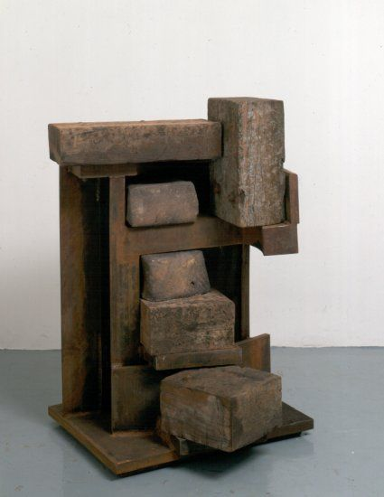 Anthony Caro Secret Stair (1994/1995)  Steel, stoneware & wood, 119 x 97 x 98cm,