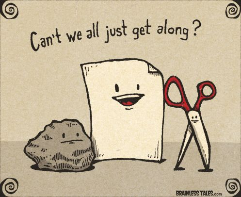 Rock AND paper AND scissors =]
