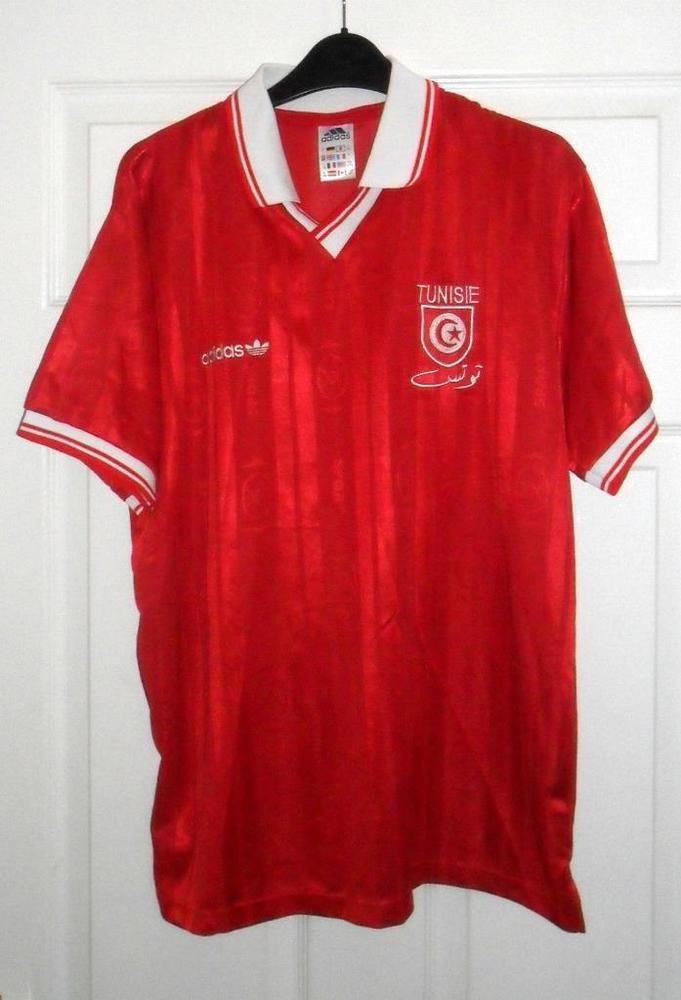 TUNISIA 1992-1994 AWAY ADIDAS FOOTBALL SHIRT Size 42