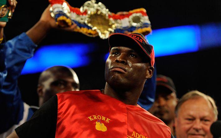 Lataa kuva Adonis Stevenson, Nyrkkeily, muotokuva, Kanadan boxer, WBC, maailman chaThe Rengas