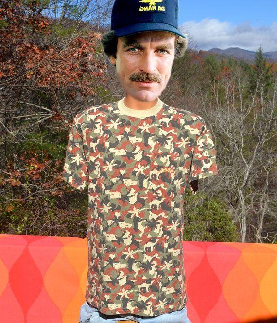 90s vintage JOE CAMEL t-shirt camouflage camo by skippyhaha