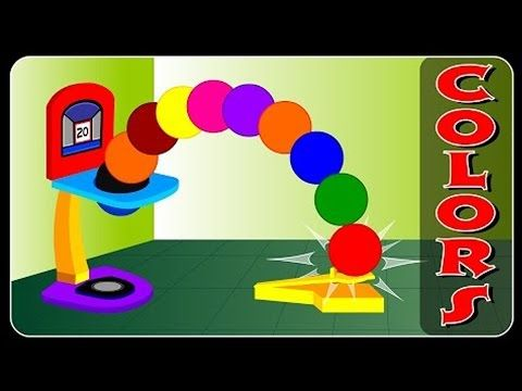 Color Basketball Shooting game | Learn Colors for nursery children - YouTube