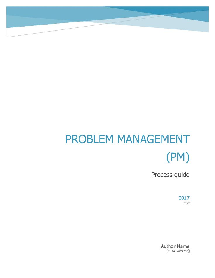 This document establishes an Problem Management (PM) process according to ITIL v3 best practice and ISO 20000. (Word document including Visio diagram of the process)    This document introduces the Problem Management process Framework; the workflow, roles and responsibilities, RACI Matrix, KPIs, metrics, procedures, and policies needed to implement a high quality process.     Document contains suggested templates for:  Problem Life-cycle stages  Prioritization Matrix  Categorization  Problem ...
