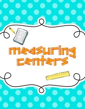 Six measurement centers that will keep your students thinking while they are having fun! These six centers include the following topics: metric uni...
