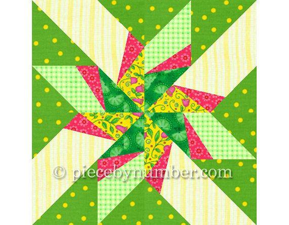 Dancing Arrows paper pieced quilt block pattern INSTANT DOWNLOAD PDF