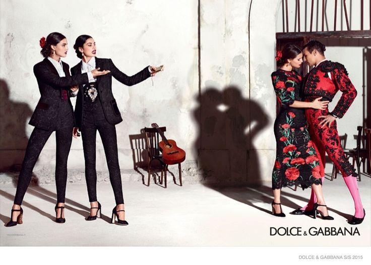 dolce-gabbana-spring-summer-2015-ad-campaign, starring Bianca Balti, Vittoria Ceretti, Irina Sharipova and Bianca Padilla, photographed by Domenico Dolce
