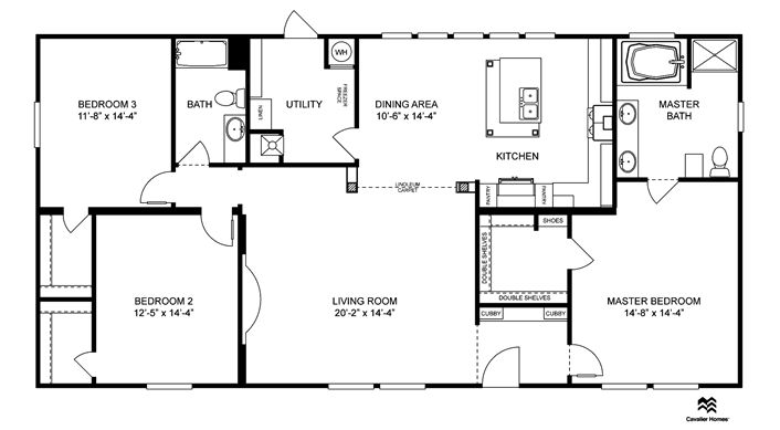 I like this one!!  Clayton Homes | Home Floor Plan | Manufactured Homes, Modular Homes, Mobile Home