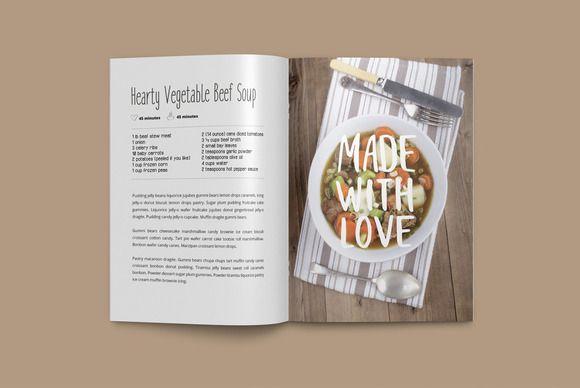 Best Cookbook Templates Ideas On Pinterest Cookbook Template - Indesign recipe book template