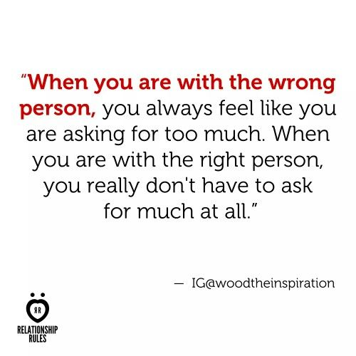 Wrong person / right person  Relationship quote