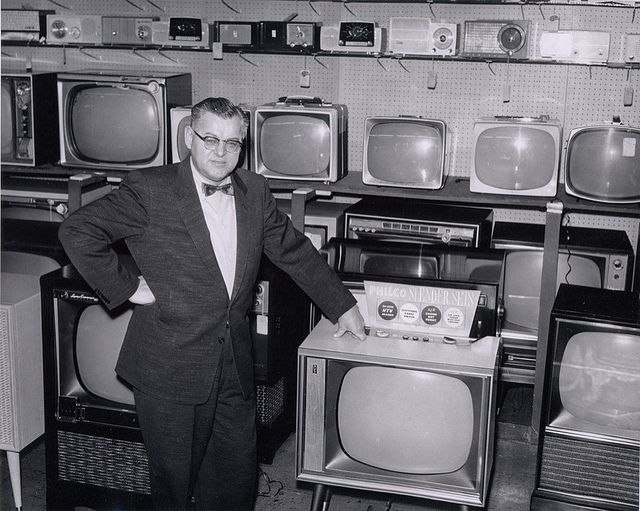 stepping back in time to what was high tech: tv shop of the 1950s