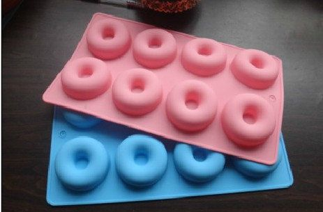 8-cavity Donut Doughnut Cake Mold Flexible Silicone Soap Mold For Handmade Soap Candle Candy