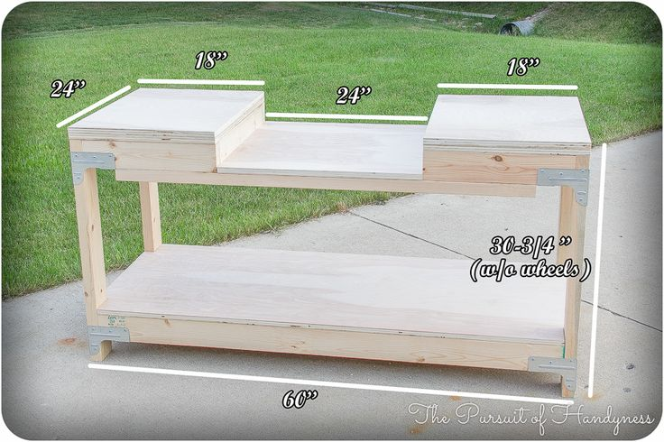 Mobile Miter Saw Stand Dimensions