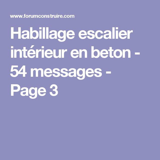 Habillage escalier intérieur en beton - 54 messages - Page 3