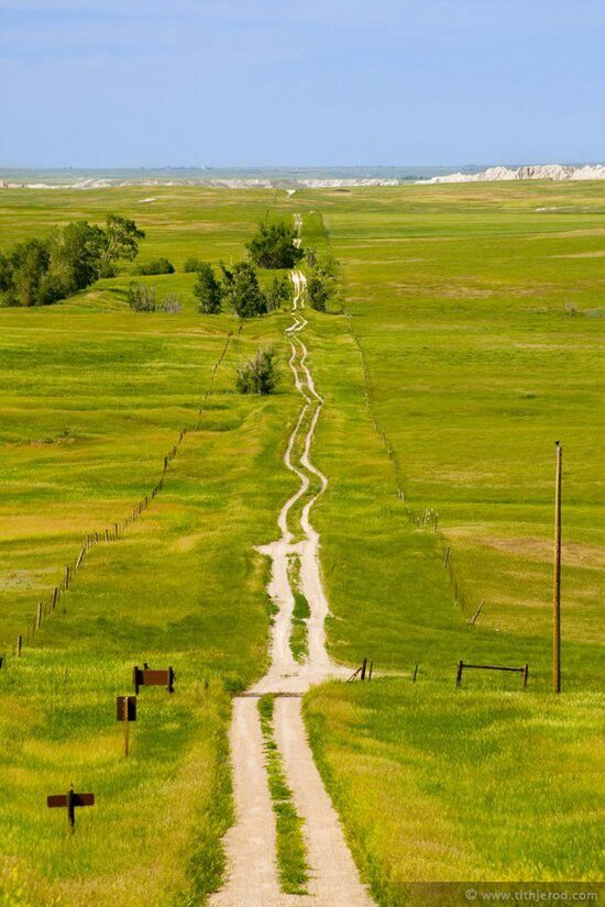 Country road...somewhere in South Dakota
