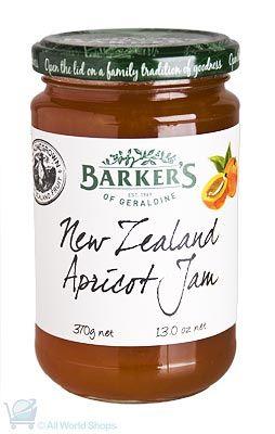 New Zealand Apricot Jam - Barkers - 370g | Shop New Zealand