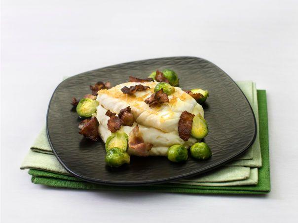 Stekt torsk med potetmos (/blomkålmos) og rosenkål