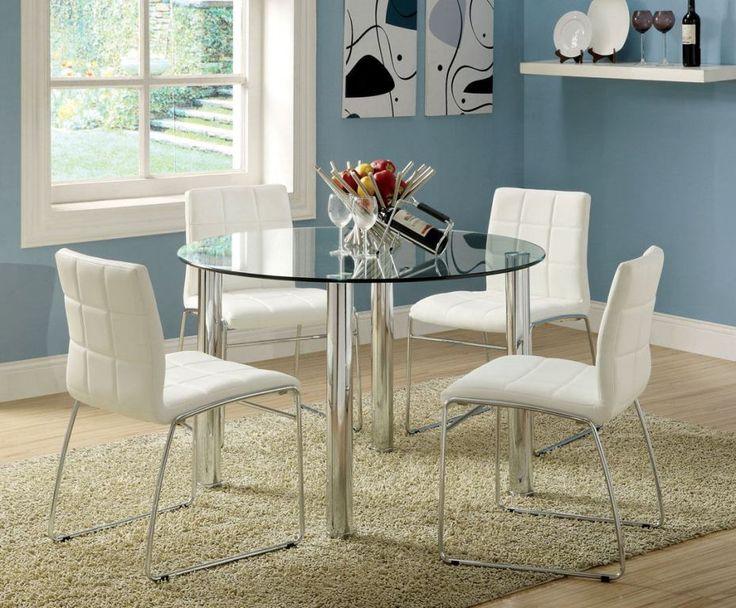 Die besten 25+ Round glass kitchen table Ideen auf Pinterest - runde esstische modern ausziehbar