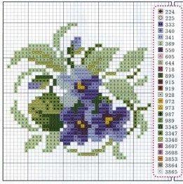 Flores violetas: