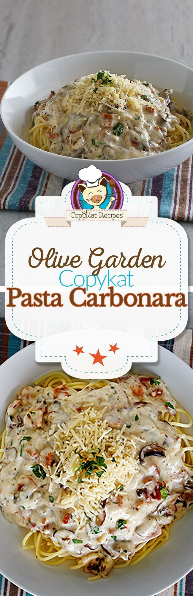 You can recreate the Olive Garden Spaghetti Carbonara at home with this easy copycat recipe.
