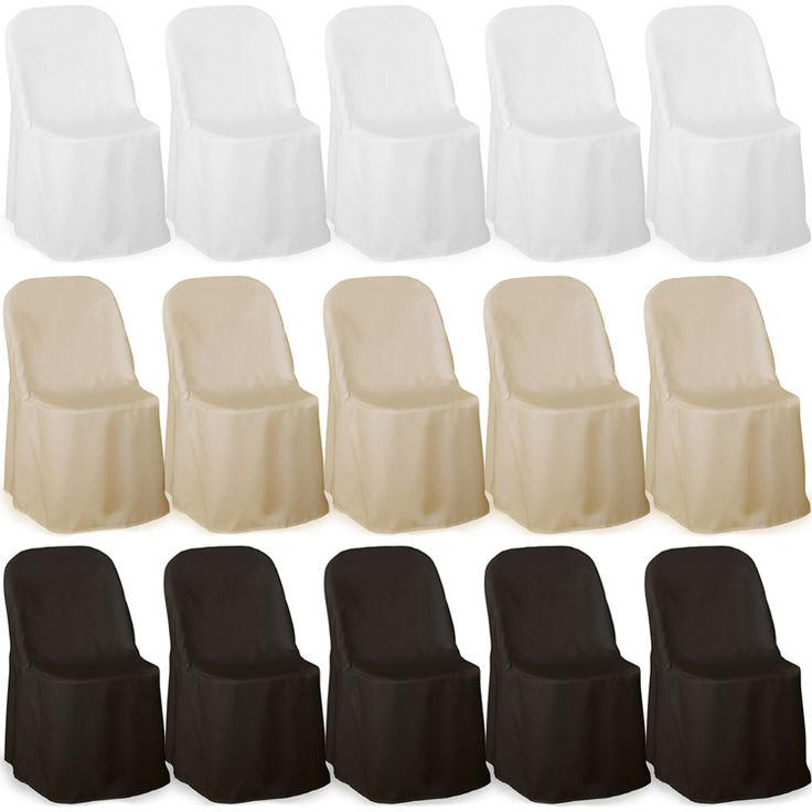 simple folding chair covers for weddings | Details about Premium Folding Poly Chair Covers For Wedding Party ...