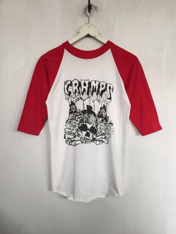 The Cramps shirt 1983 vintage t shirt band t-shirts raglan tee