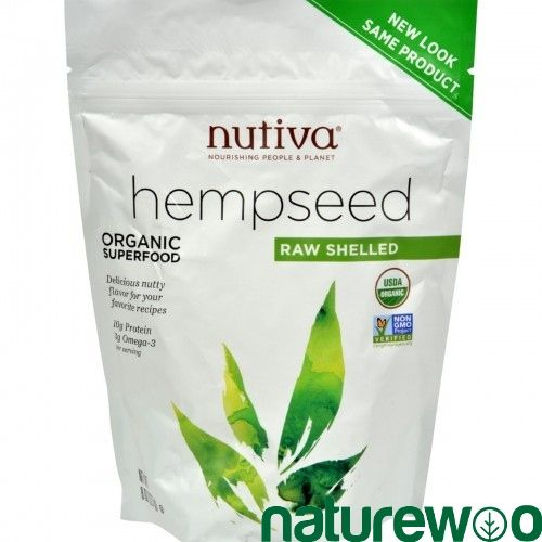 Nutiva - 619049 - Organic Hemp Seed - Raw Shelled - 8 oz