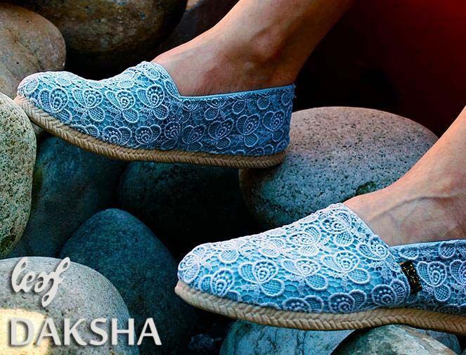 Alpargatas. Leaf. www.daksha.com.ar Boho chic. Hippie chic. India. Tailandia.