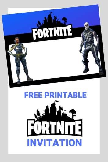 Free Fortnite Invitation For Print Or Sending Digitally