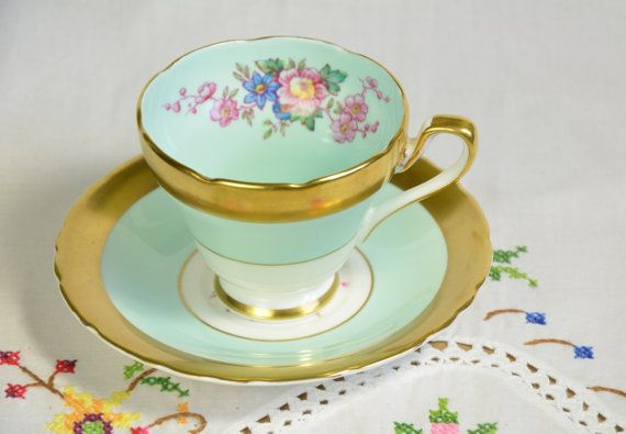 Sutherland china tea cup and saucer by VieuxCharmes on Etsy                                                                                                                                                                                 More