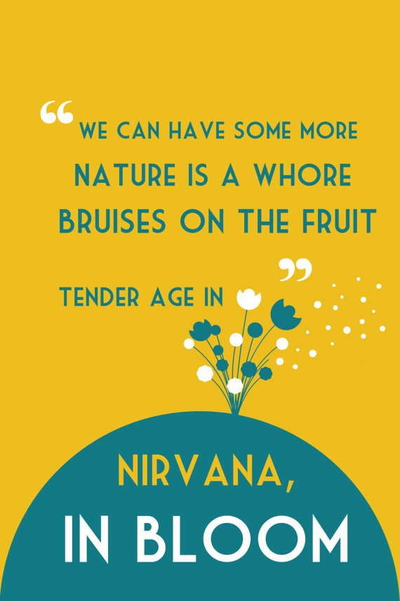 Nirvana Music Poster Breed / In Bloom  Paper or by FunnyFaceArt, $19.00