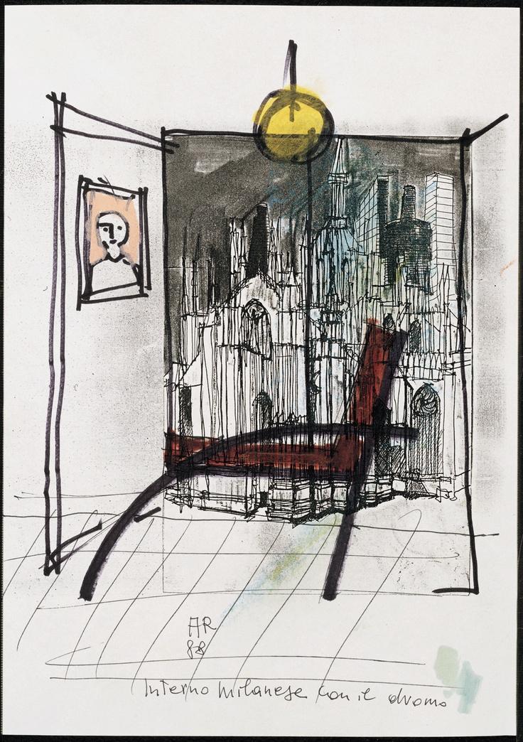 Parigi Chair drawing by Aldo Rossi